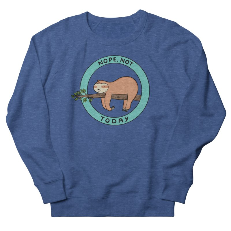 Sloth Women's French Terry Sweatshirt by coffeeman's Artist Shop