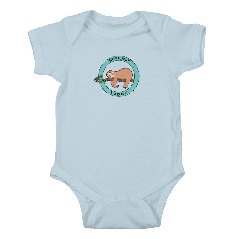 Sloth Kids Baby Bodysuit by coffeeman's Artist Shop
