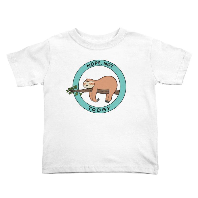 Sloth Kids Toddler T-Shirt by coffeeman's Artist Shop