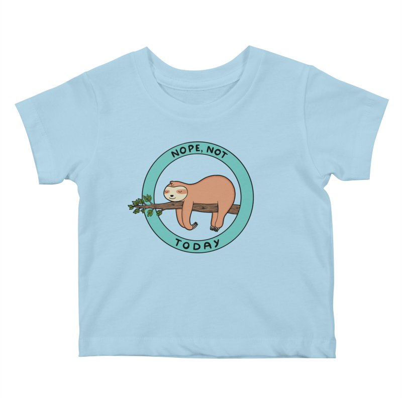 Sloth Kids Baby T-Shirt by coffeeman's Artist Shop
