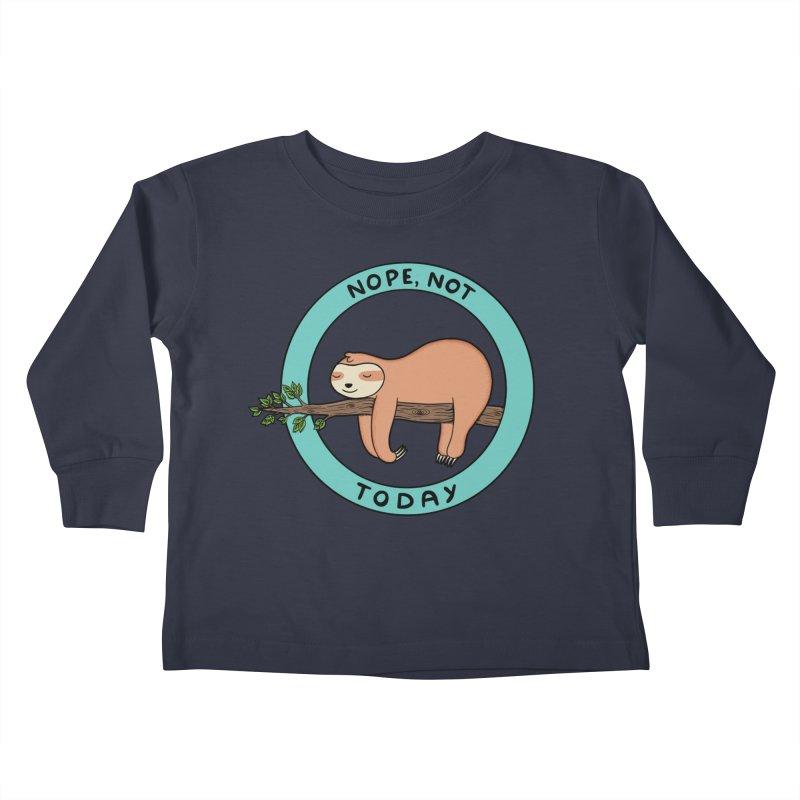 Sloth Kids Toddler Longsleeve T-Shirt by coffeeman's Artist Shop