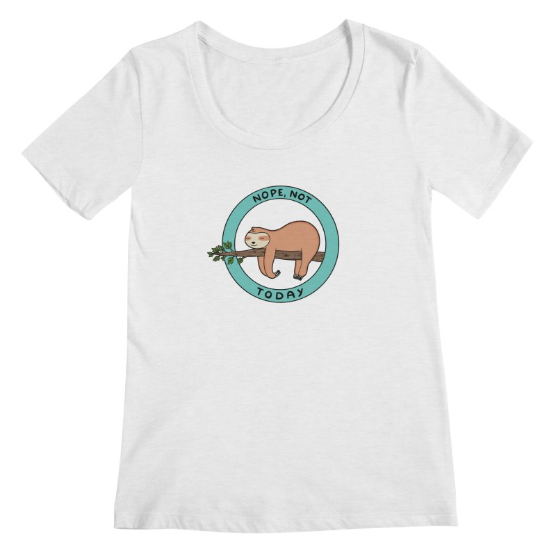 Sloth Women's Regular Scoop Neck by coffeeman's Artist Shop