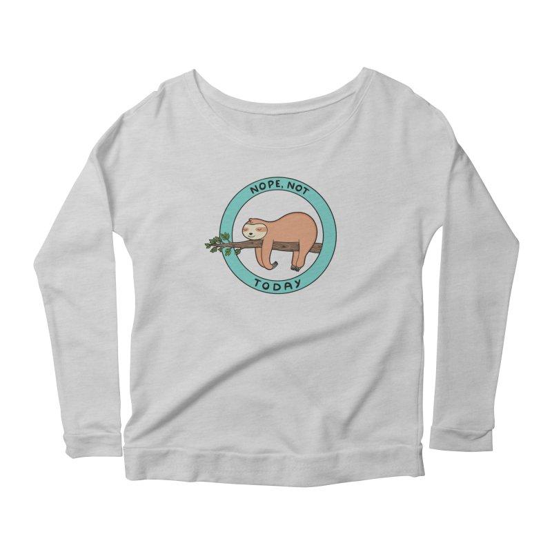 Sloth Women's Scoop Neck Longsleeve T-Shirt by coffeeman's Artist Shop