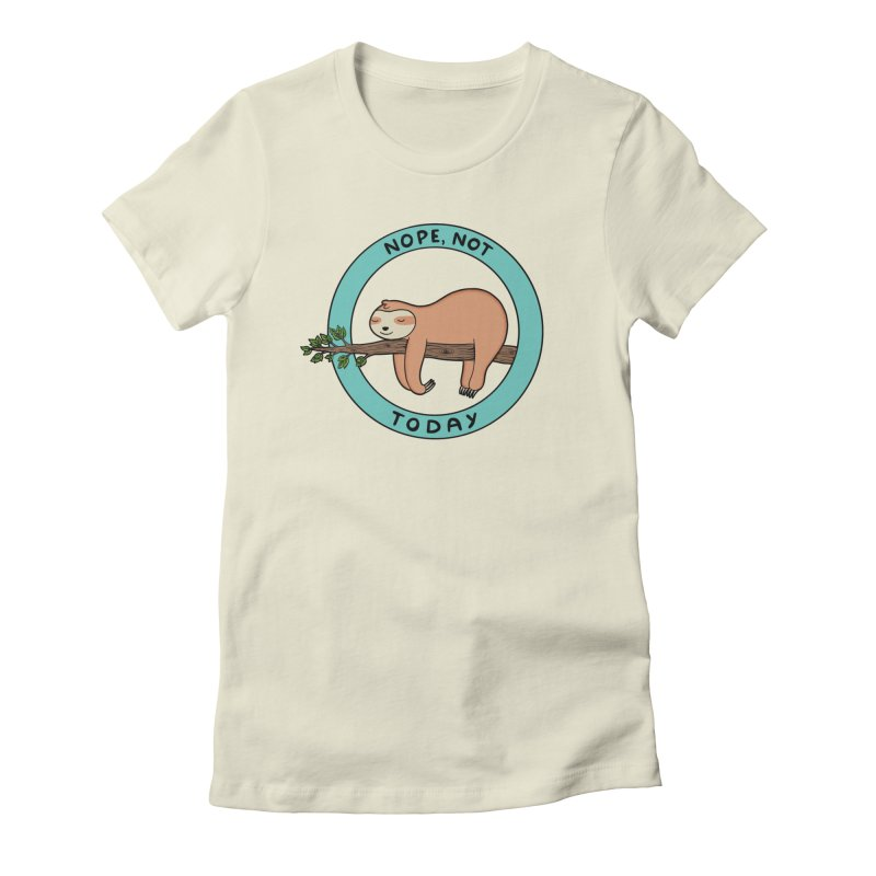 Sloth Women's Fitted T-Shirt by coffeeman's Artist Shop