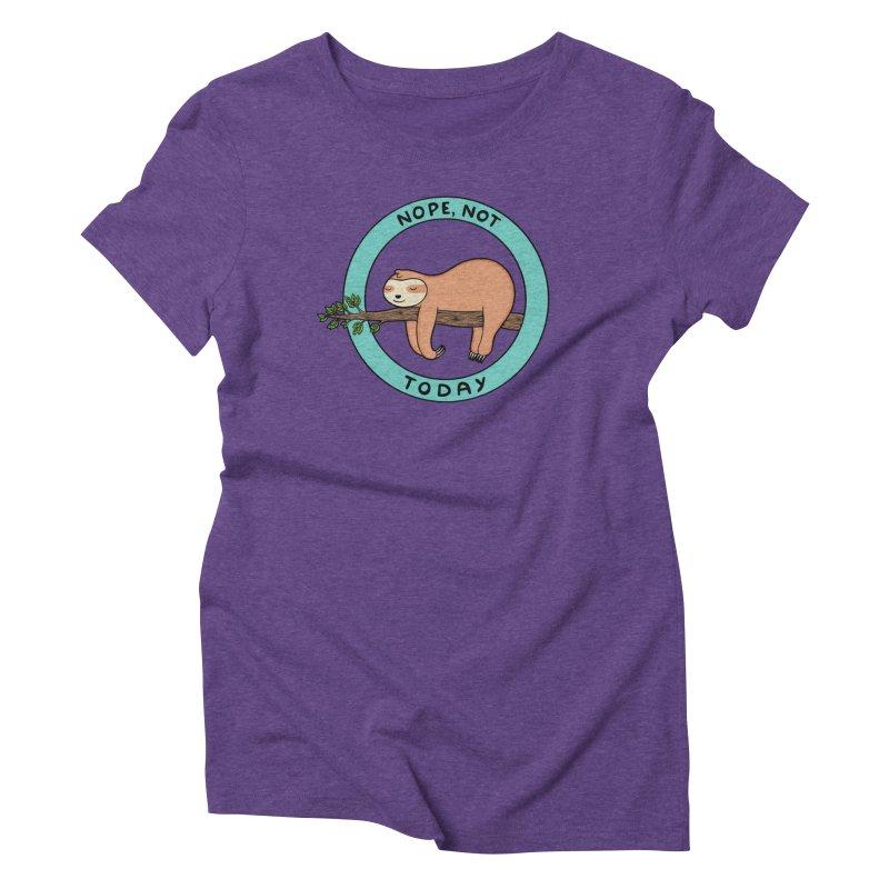 Sloth Women's Triblend T-Shirt by coffeeman's Artist Shop