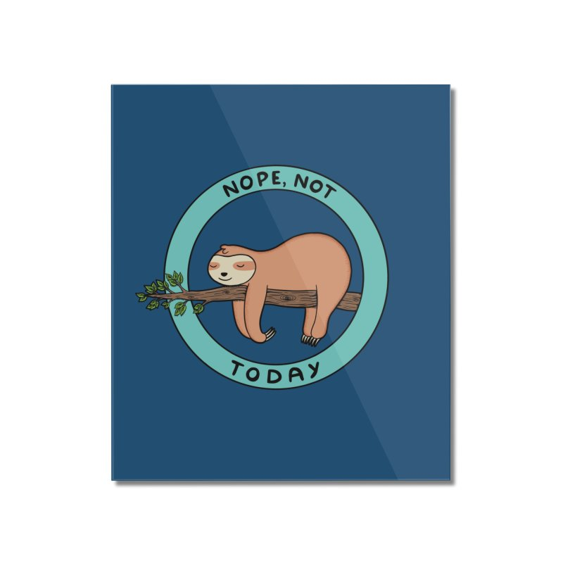 Sloth Home Mounted Acrylic Print by coffeeman's Artist Shop
