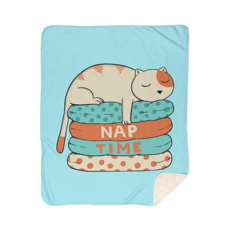 Cats Home Sherpa Blanket Blanket by coffeeman's Artist Shop