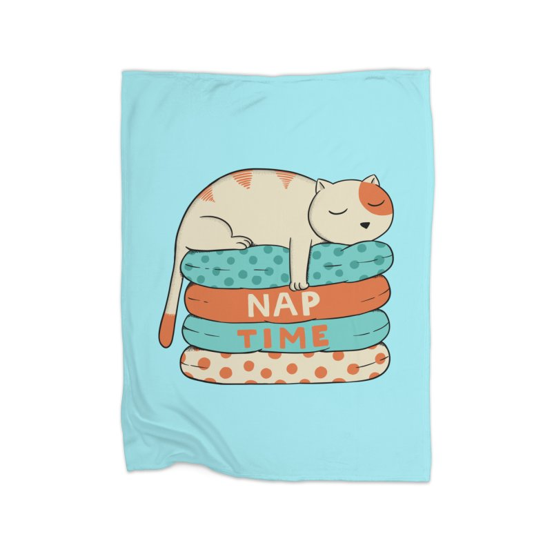 Cats Home Fleece Blanket Blanket by coffeeman's Artist Shop