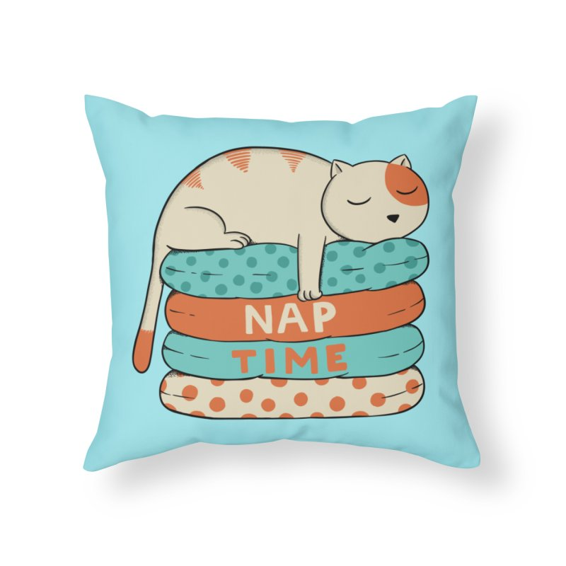 Cats Home Throw Pillow by coffeeman's Artist Shop