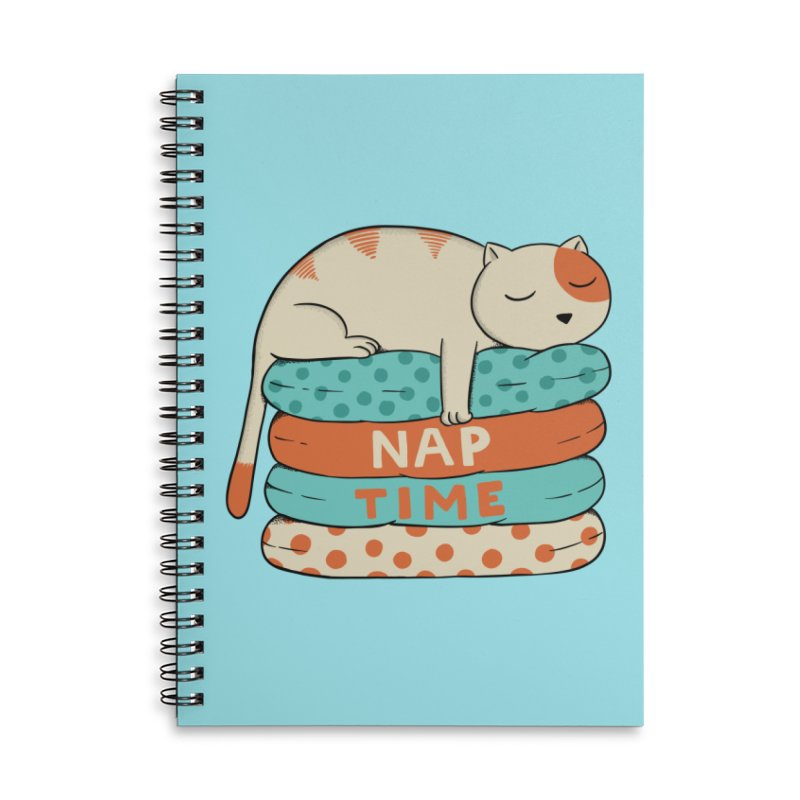 Cats Accessories Lined Spiral Notebook by coffeeman's Artist Shop