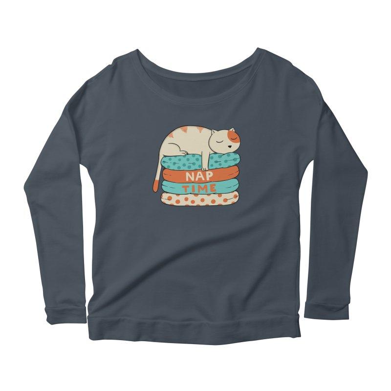 Cats Women's Scoop Neck Longsleeve T-Shirt by coffeeman's Artist Shop