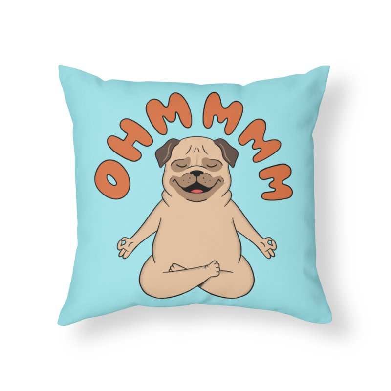 Dog Home Throw Pillow by coffeeman's Artist Shop