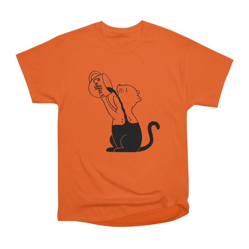 Cat Women's Heavyweight Unisex T-Shirt by coffeeman's Artist Shop