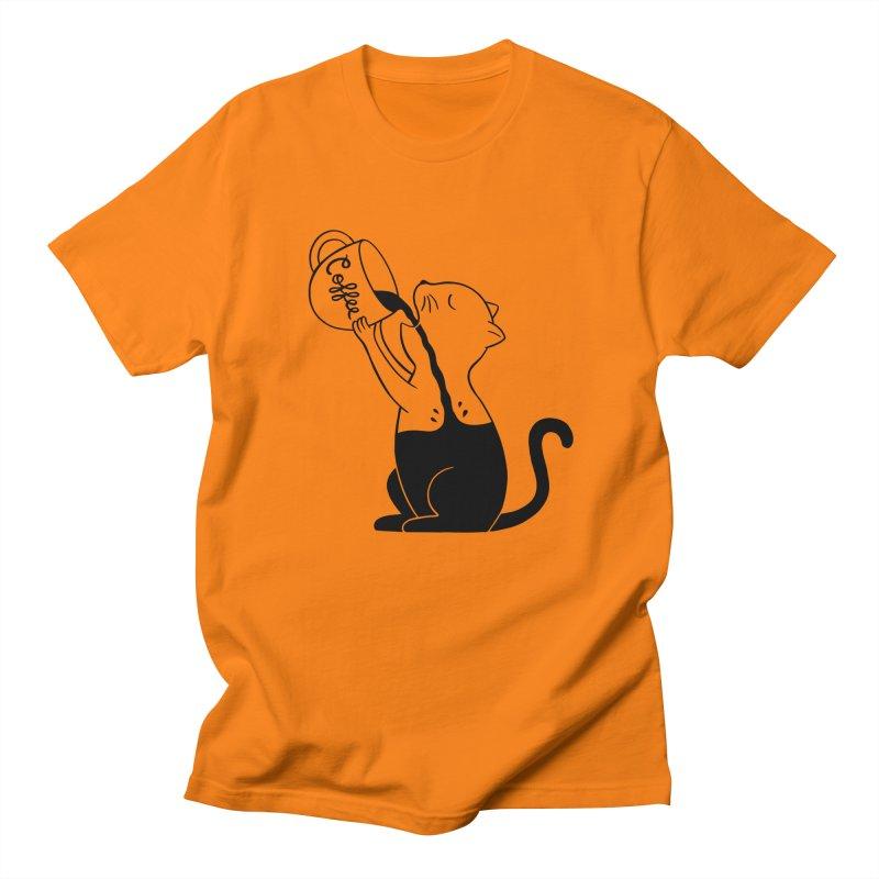 Cat Women's Regular Unisex T-Shirt by coffeeman's Artist Shop