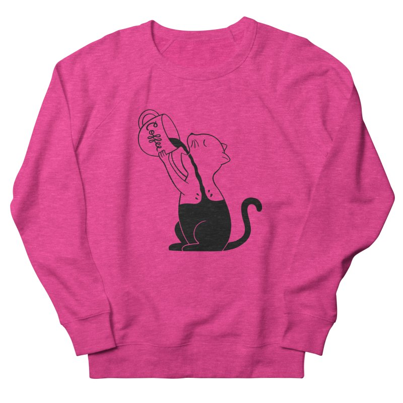 Cat Women's French Terry Sweatshirt by coffeeman's Artist Shop