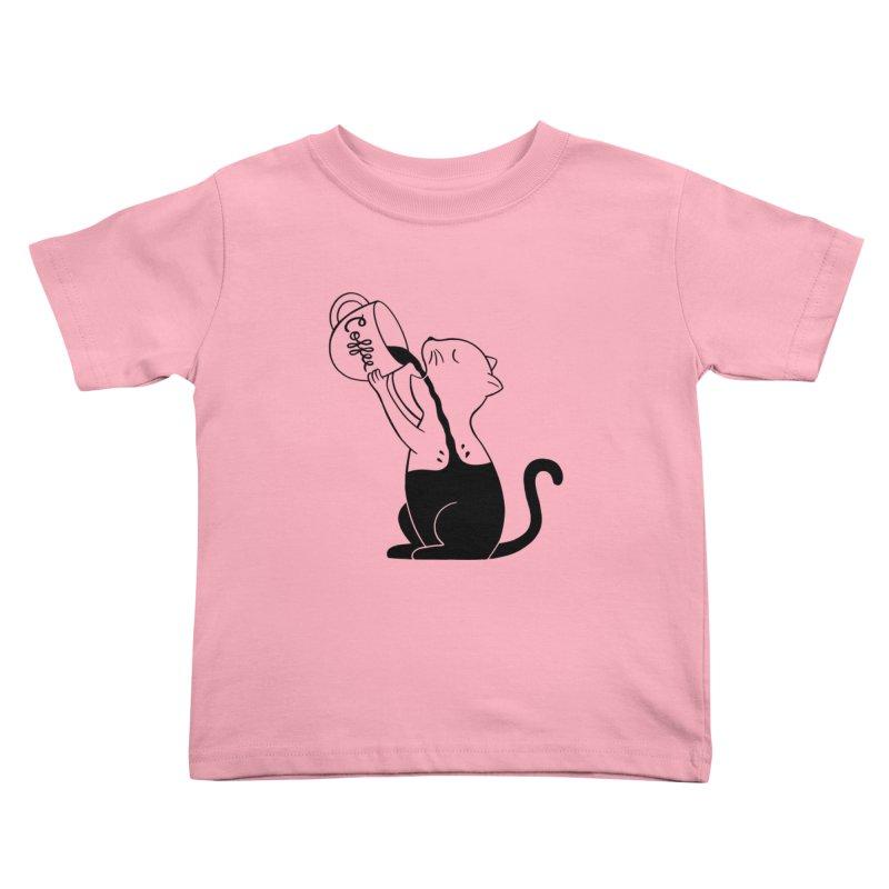Cat Kids Toddler T-Shirt by coffeeman's Artist Shop