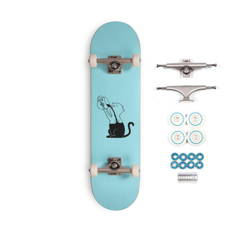 Cat Accessories Complete - Basic Skateboard by coffeeman's Artist Shop