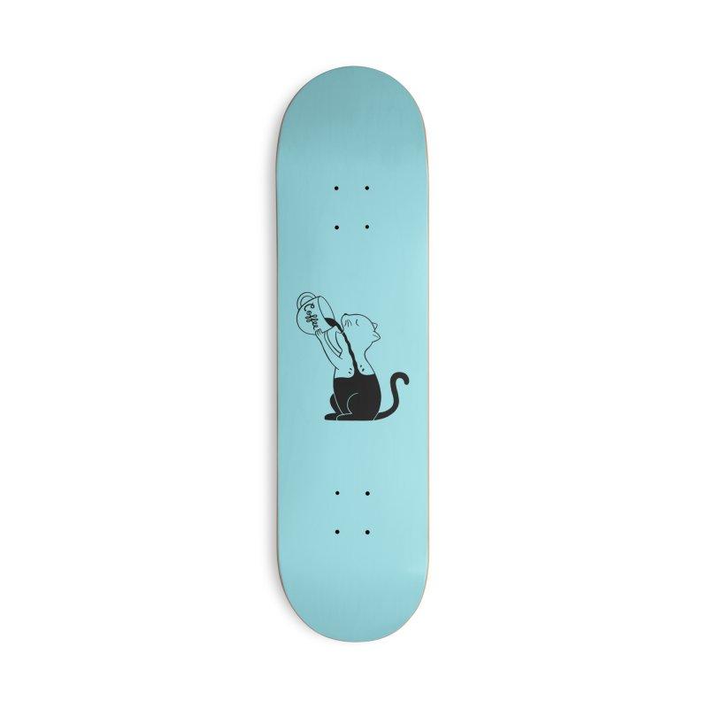 Cat Accessories Deck Only Skateboard by coffeeman's Artist Shop