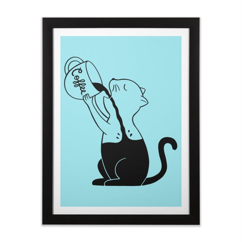 Cat Home Framed Fine Art Print by coffeeman's Artist Shop