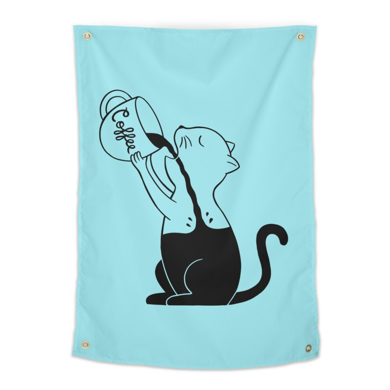 Cat Home Tapestry by coffeeman's Artist Shop