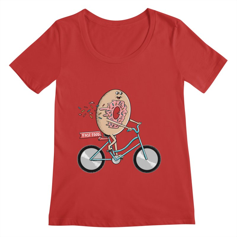 Bicycle Women's Regular Scoop Neck by coffeeman's Artist Shop