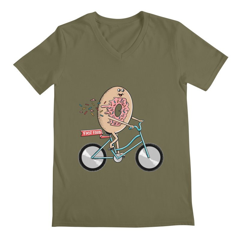 Bicycle Men's Regular V-Neck by coffeeman's Artist Shop