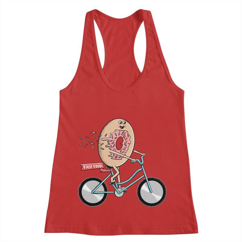 Bicycle Women's Racerback Tank by coffeeman's Artist Shop
