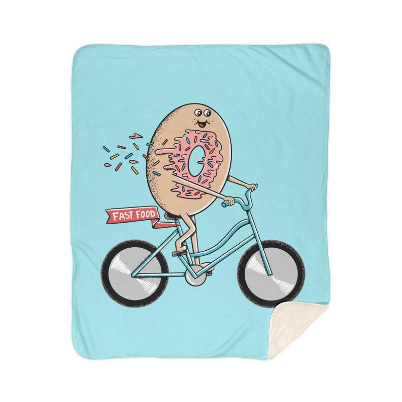 Bicycle Home Sherpa Blanket Blanket by coffeeman's Artist Shop