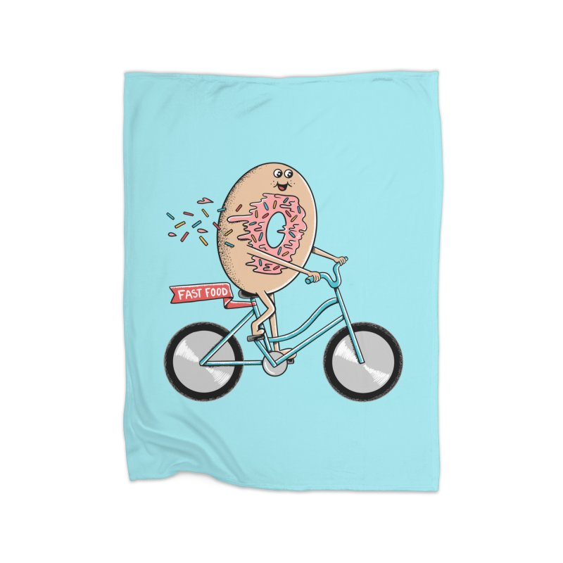 Bicycle Home Fleece Blanket Blanket by coffeeman's Artist Shop