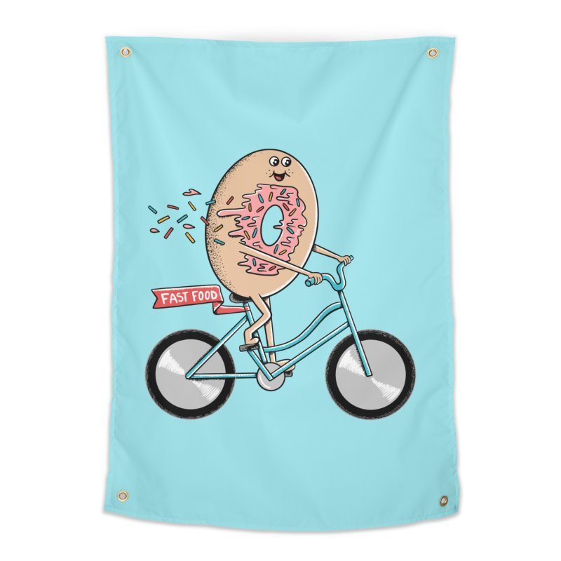 Bicycle Home Tapestry by coffeeman's Artist Shop