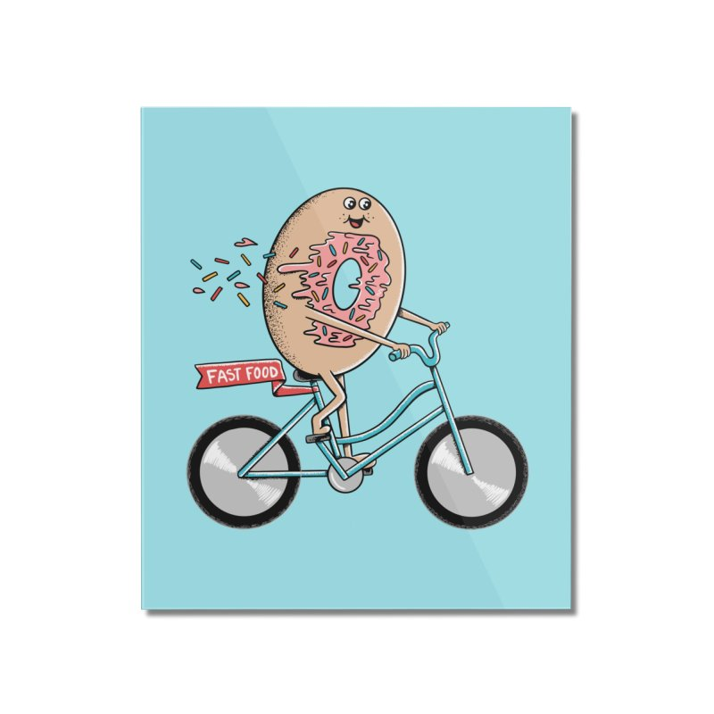 Bicycle Home Mounted Acrylic Print by coffeeman's Artist Shop