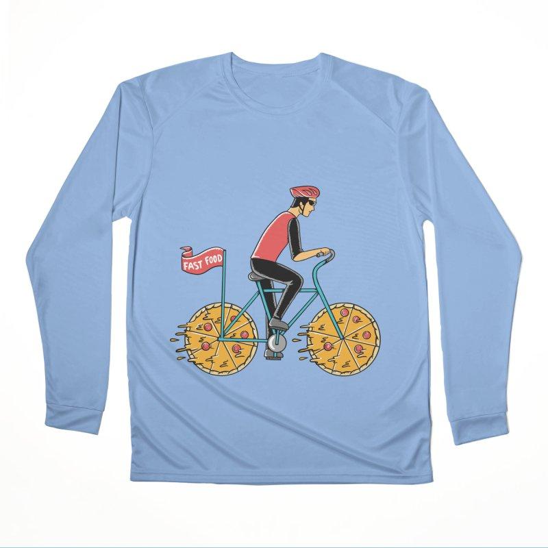 Pizza Bicycle Women's Performance Unisex Longsleeve T-Shirt by coffeeman's Artist Shop