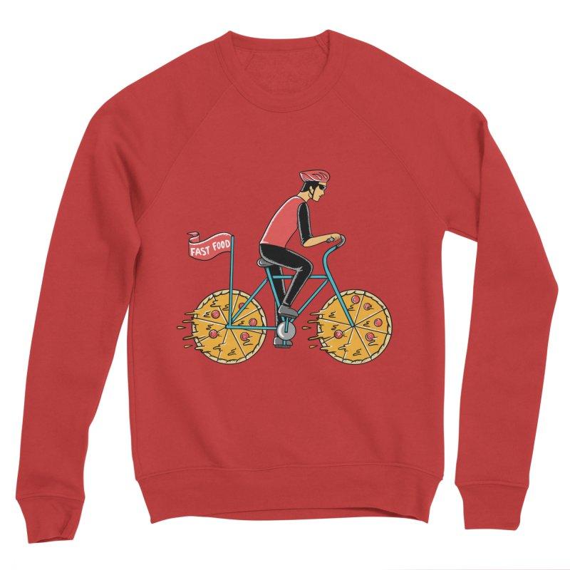 Pizza Bicycle Women's Sponge Fleece Sweatshirt by coffeeman's Artist Shop