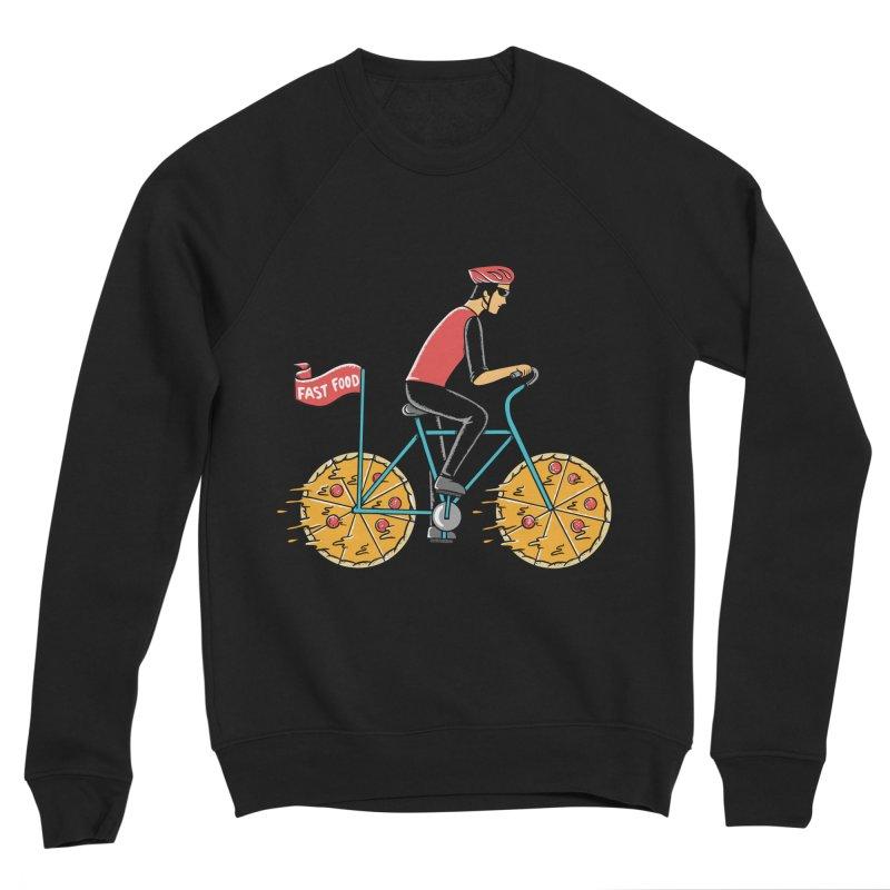 Pizza Bicycle Men's Sponge Fleece Sweatshirt by coffeeman's Artist Shop