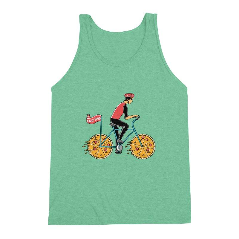 Pizza Bicycle Men's Triblend Tank by coffeeman's Artist Shop