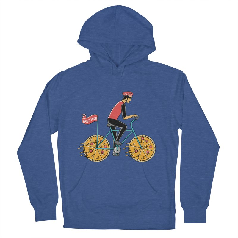 Pizza Bicycle Women's French Terry Pullover Hoody by coffeeman's Artist Shop