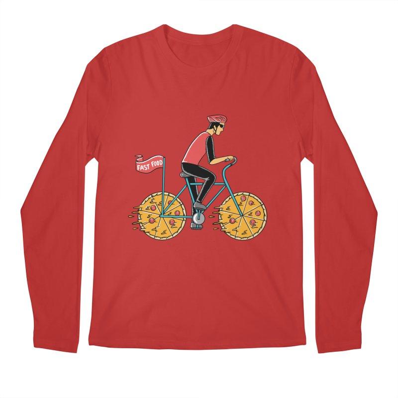 Pizza Bicycle Men's Regular Longsleeve T-Shirt by coffeeman's Artist Shop