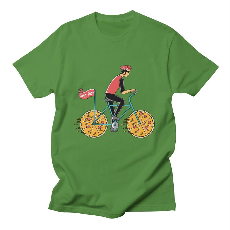 Pizza Bicycle Men's Regular T-Shirt by coffeeman's Artist Shop
