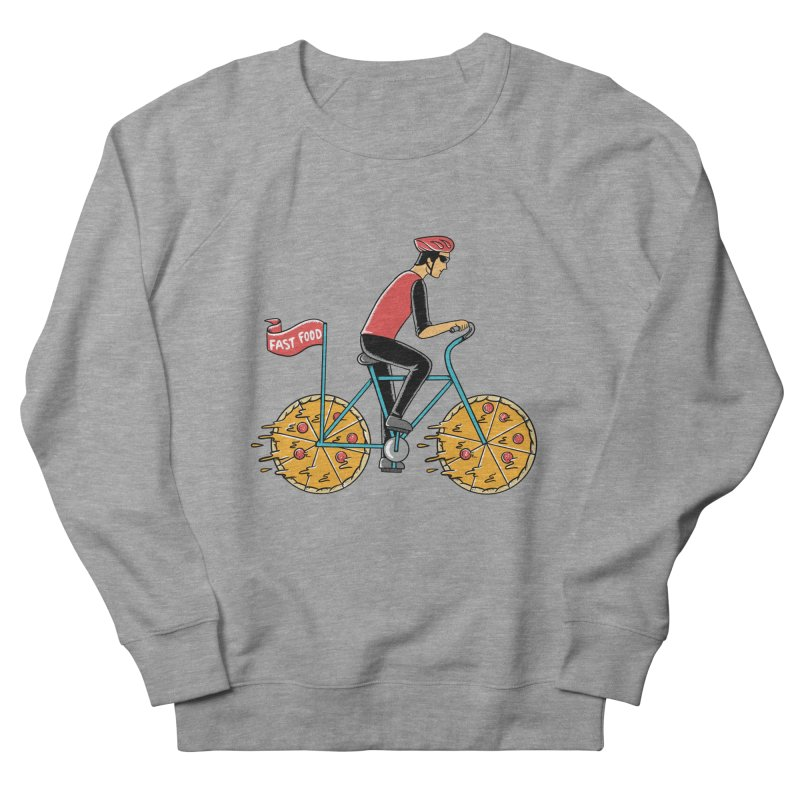 Pizza Bicycle Women's French Terry Sweatshirt by coffeeman's Artist Shop