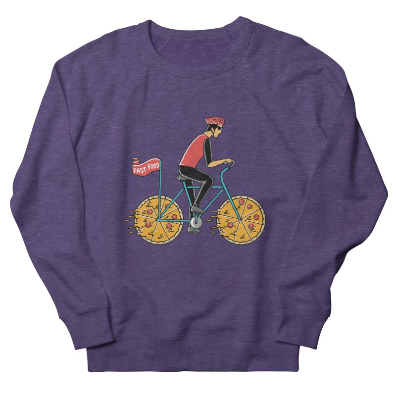 Pizza Bicycle Men's French Terry Sweatshirt by coffeeman's Artist Shop