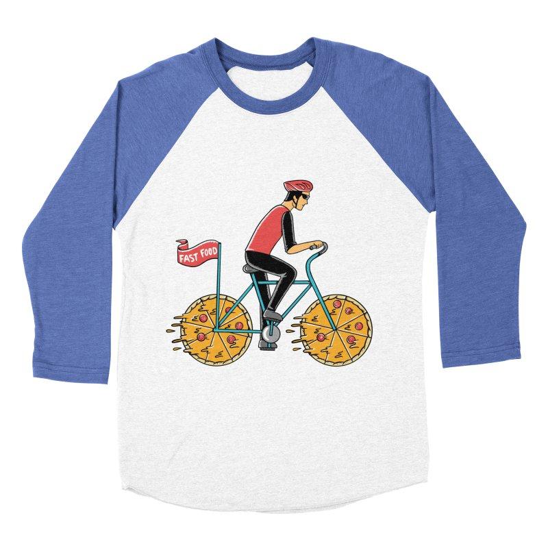 Pizza Bicycle Women's Baseball Triblend Longsleeve T-Shirt by coffeeman's Artist Shop
