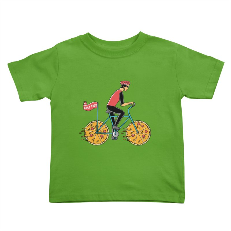 Pizza Bicycle Kids Toddler T-Shirt by coffeeman's Artist Shop
