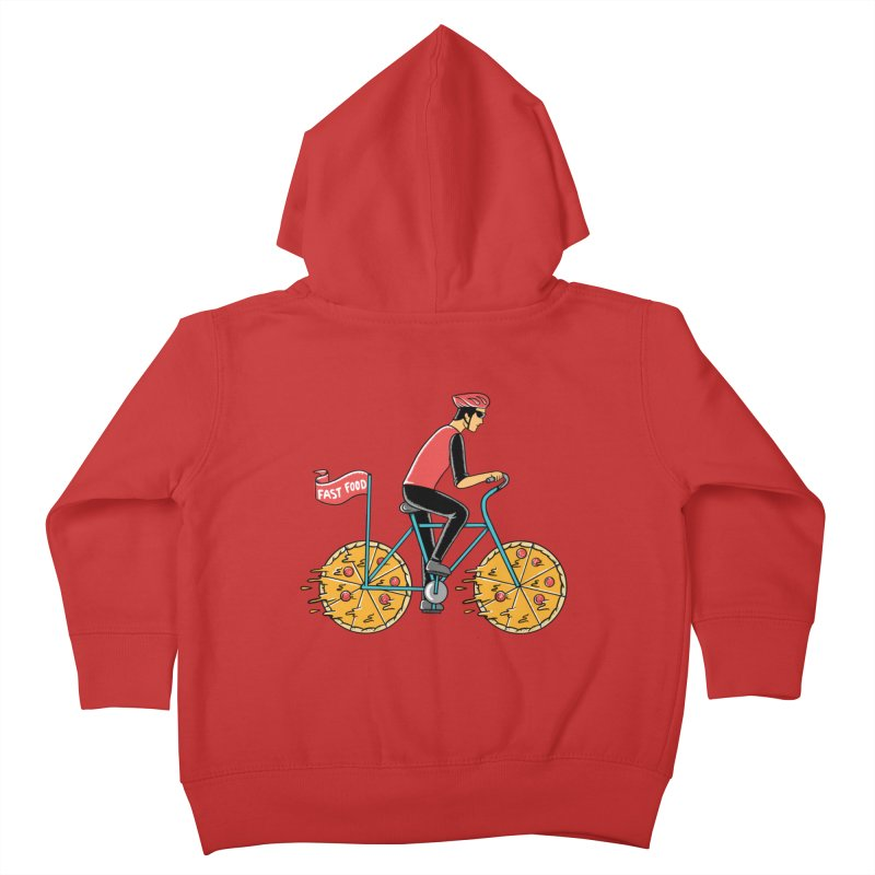 Pizza Bicycle Kids Toddler Zip-Up Hoody by coffeeman's Artist Shop