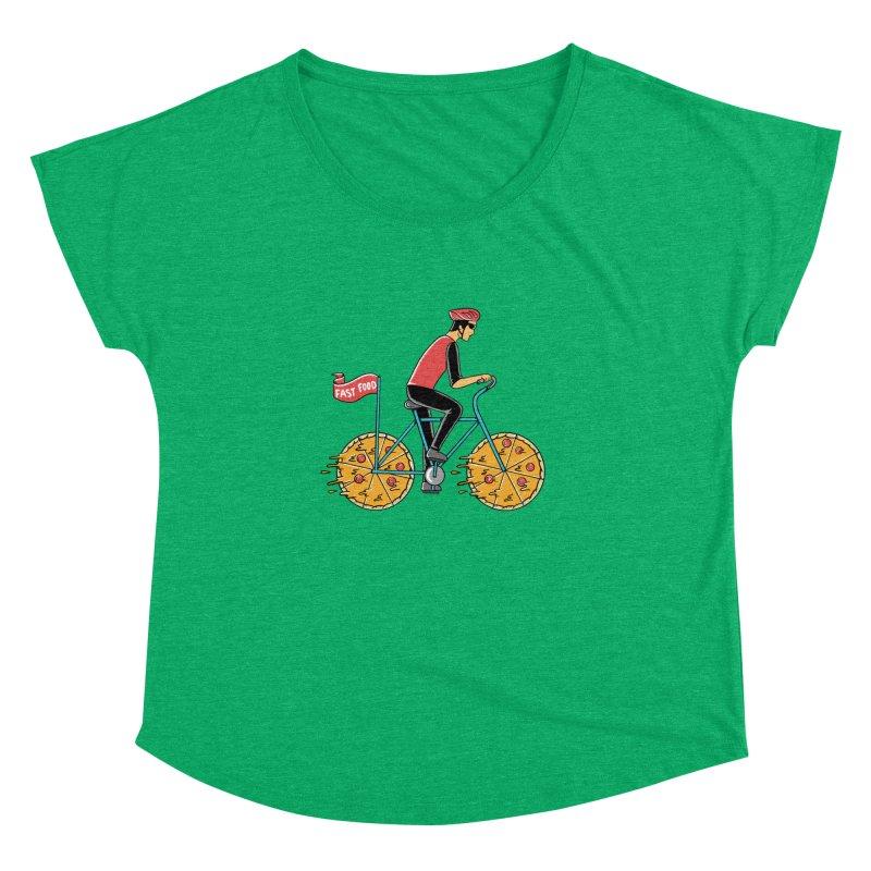 Pizza Bicycle Women's Dolman Scoop Neck by coffeeman's Artist Shop