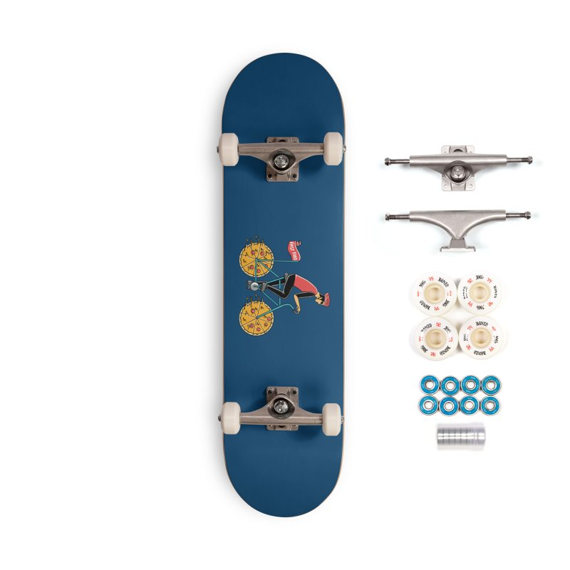 Pizza Bicycle Accessories Complete - Premium Skateboard by coffeeman's Artist Shop