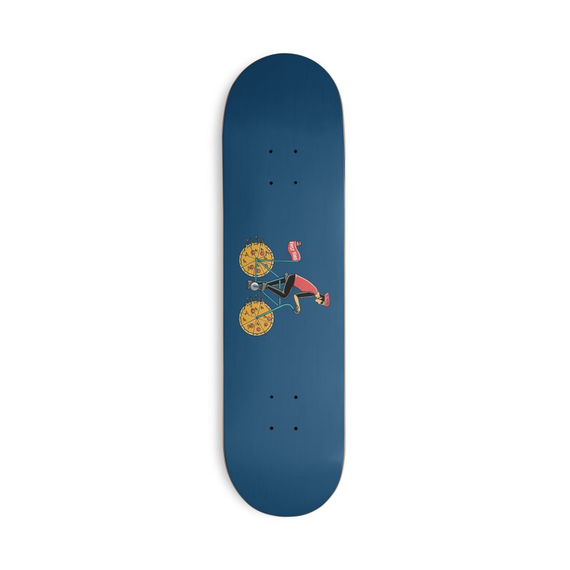 Pizza Bicycle Accessories Deck Only Skateboard by coffeeman's Artist Shop