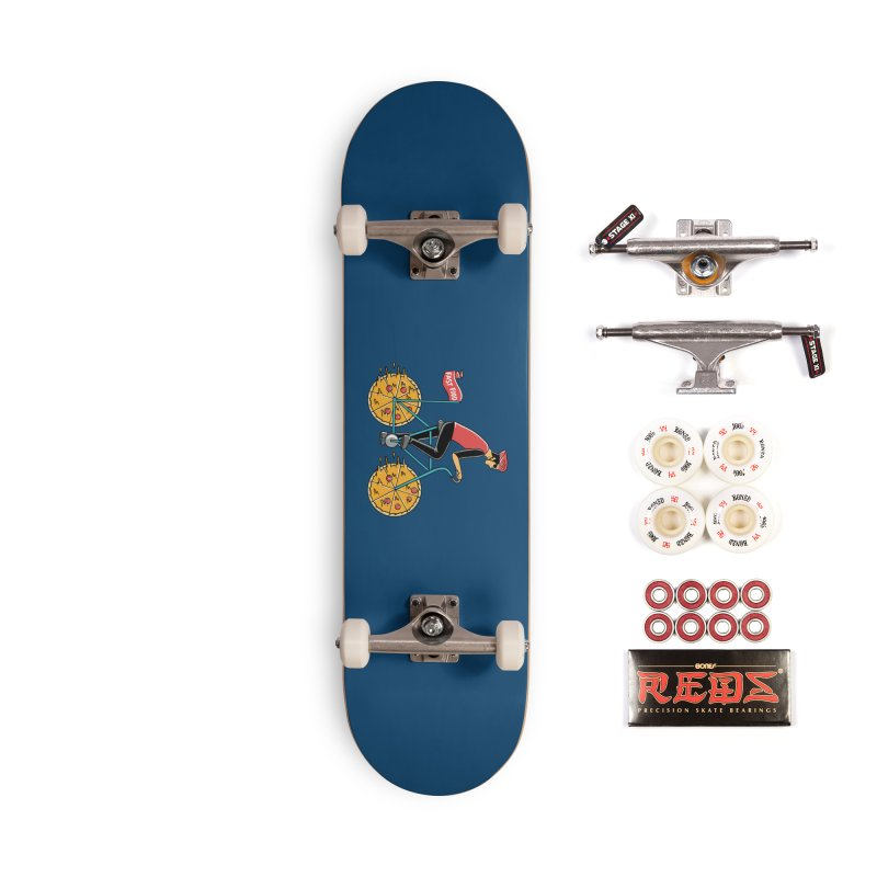 Pizza Bicycle Accessories Complete - Pro Skateboard by coffeeman's Artist Shop
