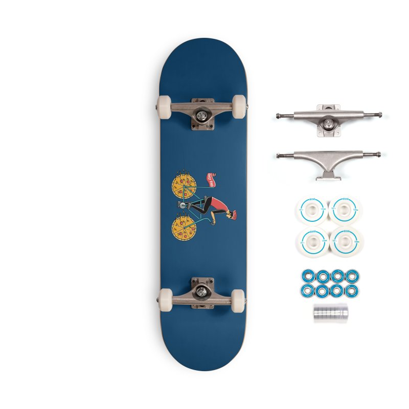 Pizza Bicycle Accessories Complete - Basic Skateboard by coffeeman's Artist Shop