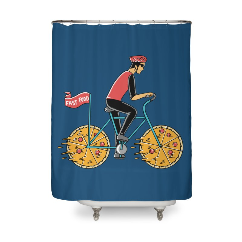 Pizza Bicycle Home Shower Curtain by coffeeman's Artist Shop