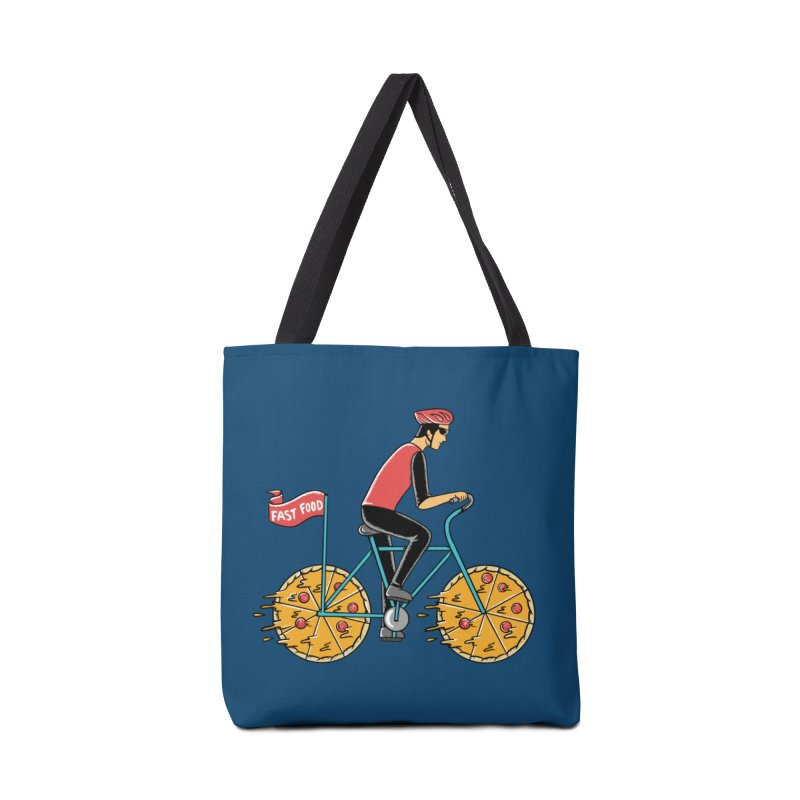 Pizza Bicycle Accessories Tote Bag Bag by coffeeman's Artist Shop